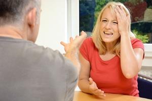 Auseinandersetzung während der Scheidungsmediation