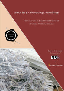 Wann ist ein Ehevertrag Sittenwidrig? Laden Sie das kostenlose E-Book (PDF) herunter.