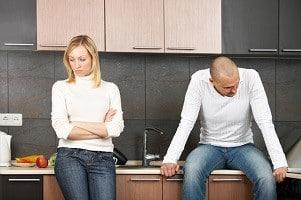 Bei der Scheidung ist die Schuldfrage bezüglich Unterhalt kein Thema mehr.