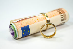 Das Formular für einen Scheidungsantrag dient auch als Kostenvoranschlag