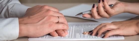 Header Scheidung in Abwesenheit