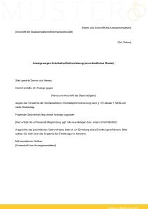 Anzeige wegen Unterhaltspflichtverletzung - kostenloses Muster von scheidung.org zum Download